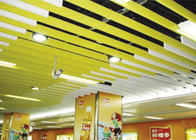 strip Linear Suspended Metal Ceiling Water Drip shaped For ventilator / hydrant layout