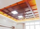 Cleanable Oil Resistance Aluminum Ceiling Panel Artistic for Kitchen