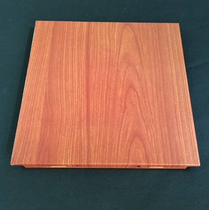 Polyester Powder Coated Wooden Decorated Ceiling Tiles 300x300 Or 600x600mm