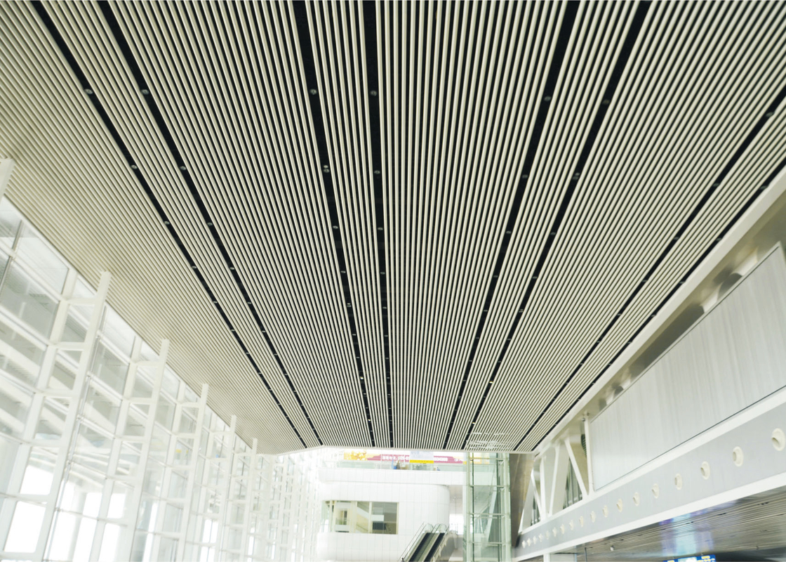 J shaped Plug in Blade Suspended Ceiling Tiles Modern For Shopping Centre